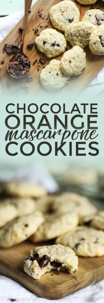 Chocolate Orange Mascarpone Cookies