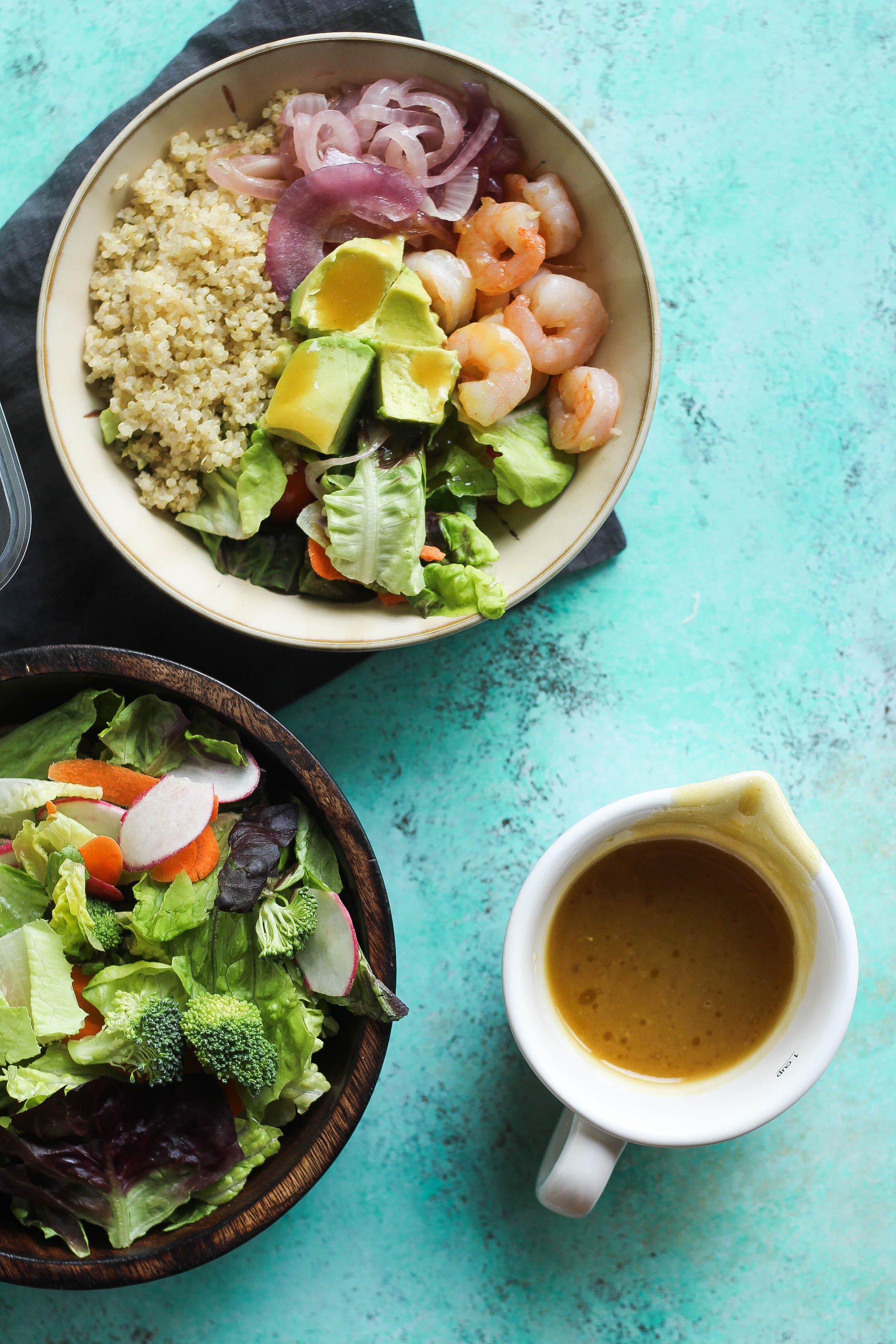 Honey Dijon Shrimp Quinoa Salad