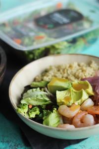 Honey Dijon Shrimp Quinoa Salad