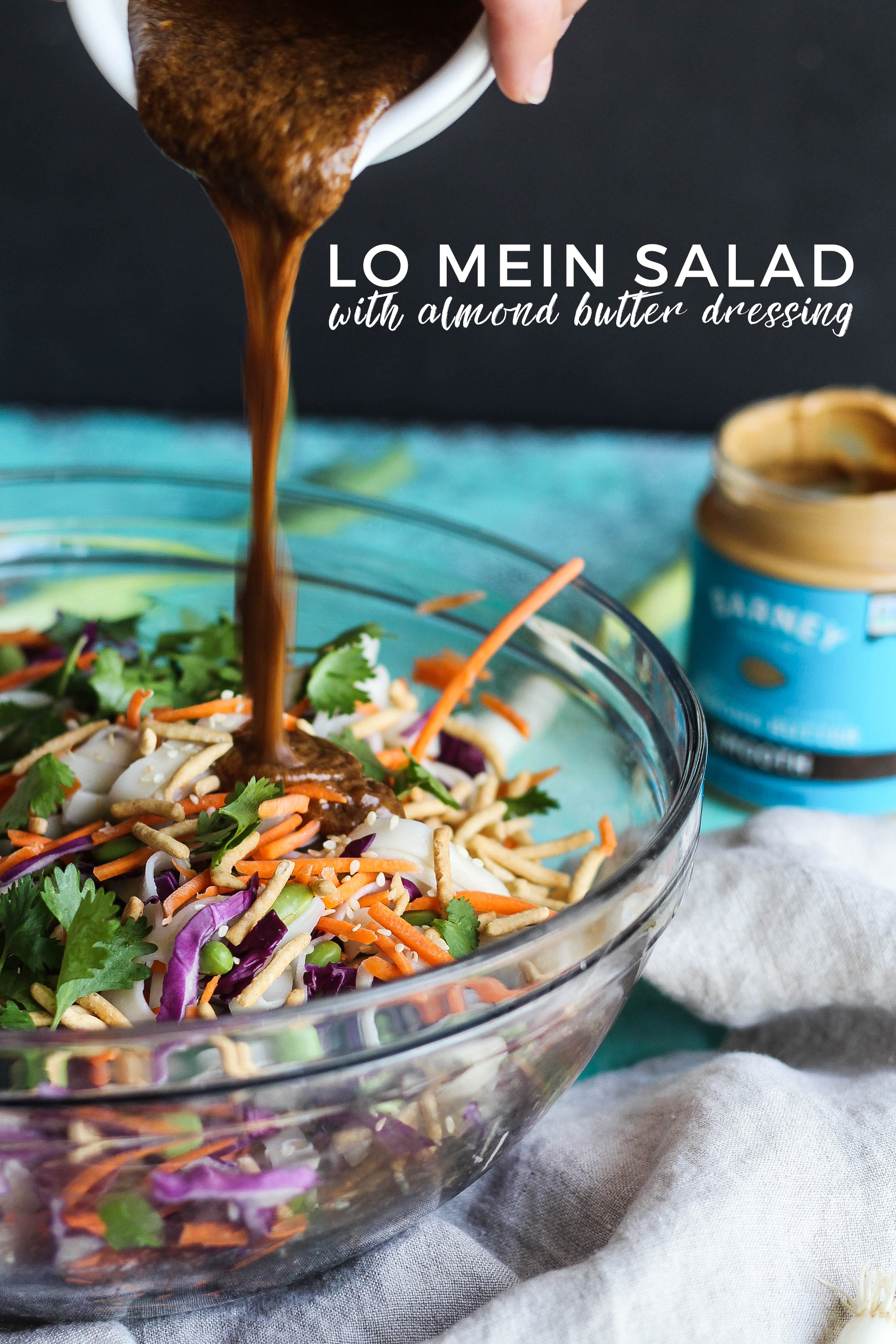 Lo Mein Salad with Almond Butter Dressing