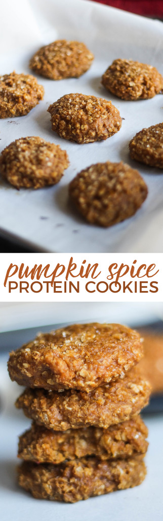 Pumpkin Spice Protein Cookies | the blissful balance
