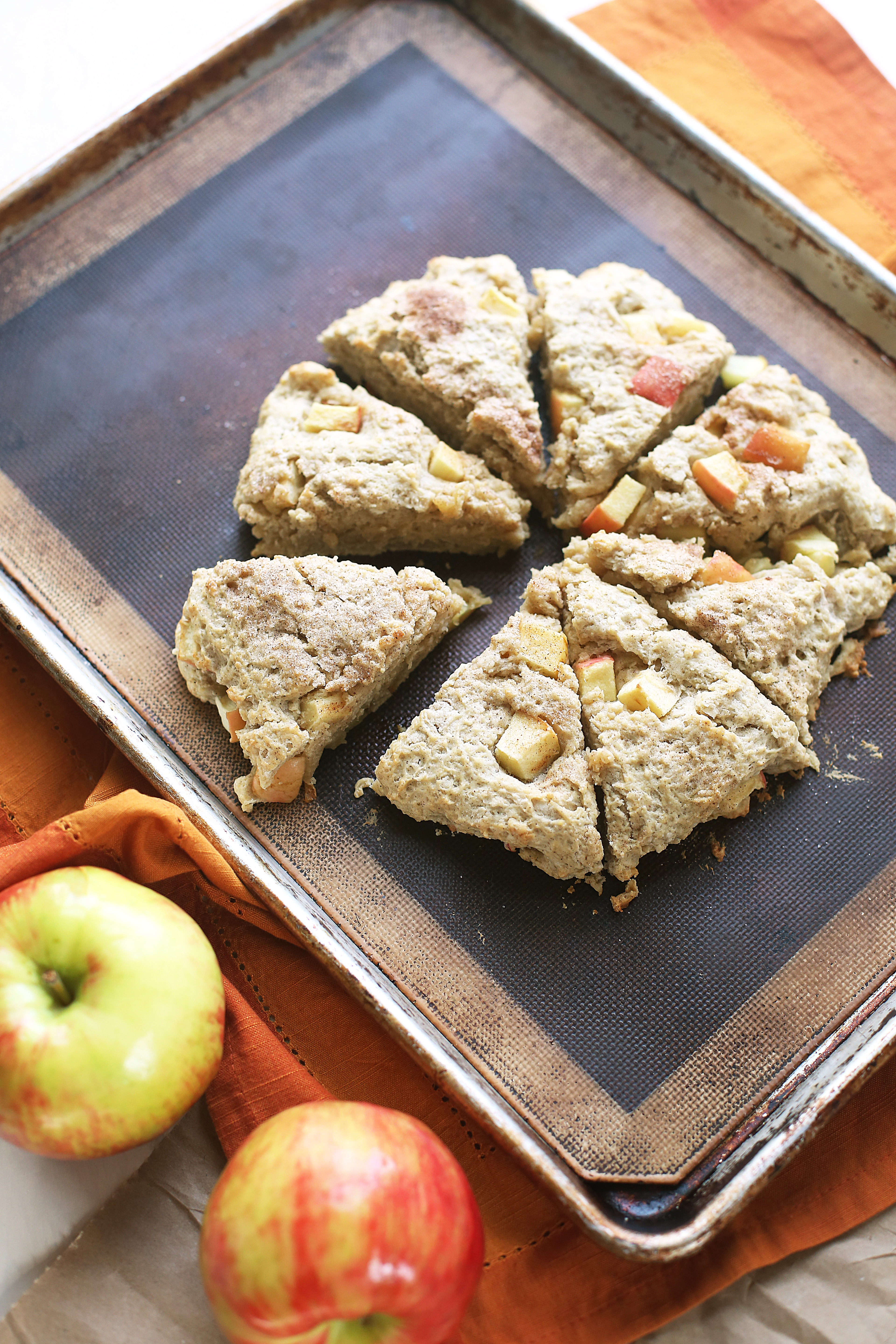 Honey Crisp Apple Scones