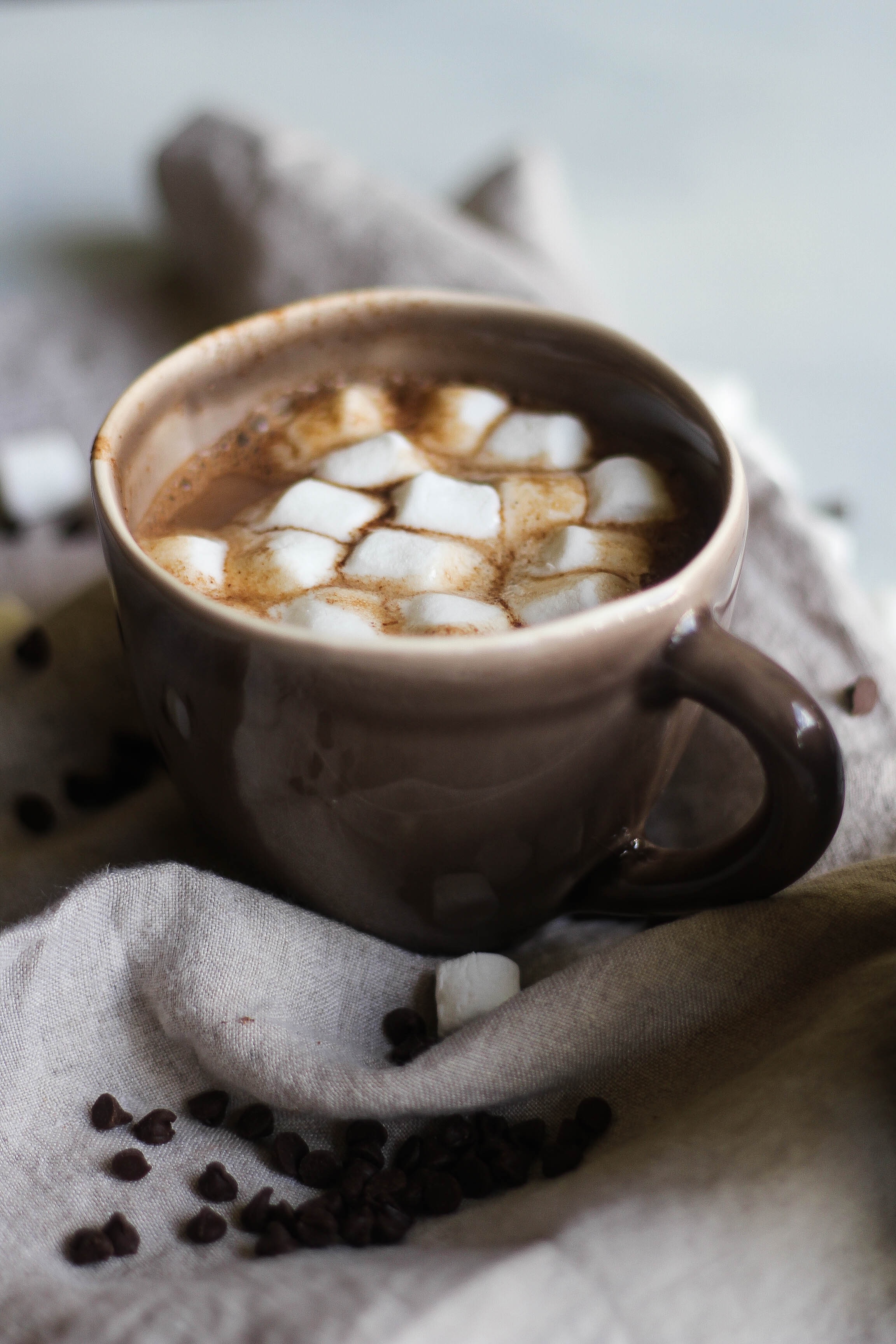 This Almond Milk Hot Chocolate is the perfect Fall dessert drink to enjoy on a cold night. Click through for the recipe!