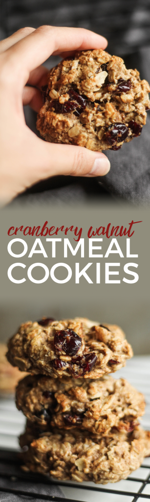 Enjoy these Cranberry Walnut Oatmeal Cookies this season with a cold glass of milk. This easy cookie recipe is the perfect way to celebrate Fall!