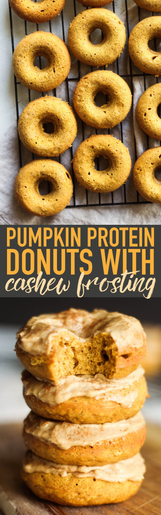 Pumpkin Protein Donuts with Cashew Frosting
