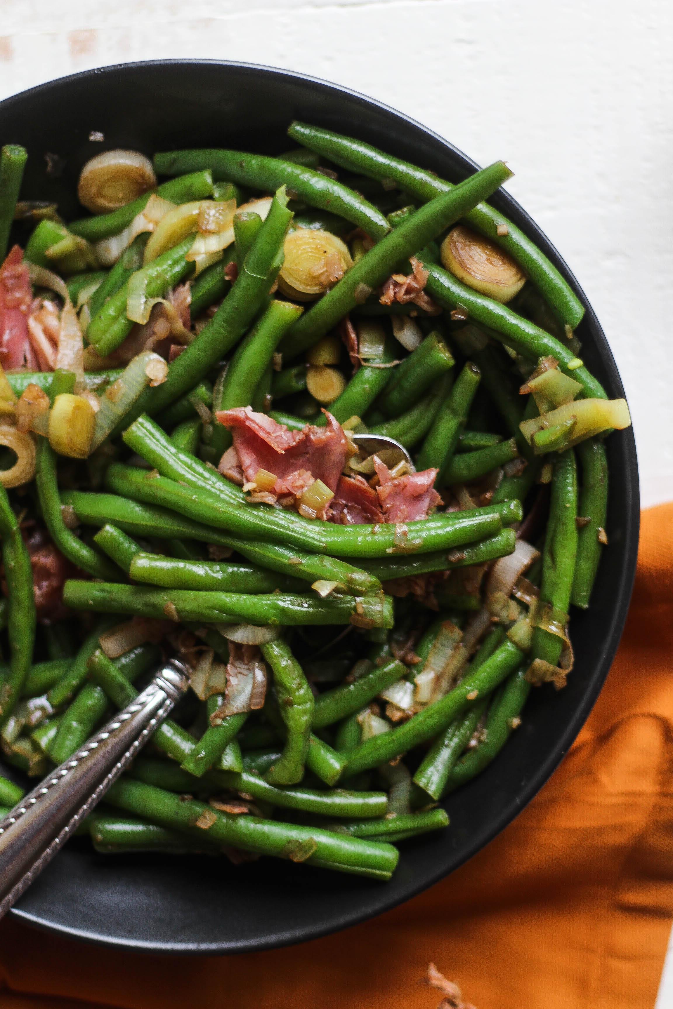 Balsamic Prosciutto Green Beans