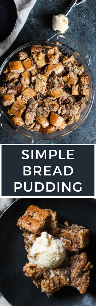 This Simple Bread Pudding is the perfect Thanksgiving dessert to serve and impress your family and friends!